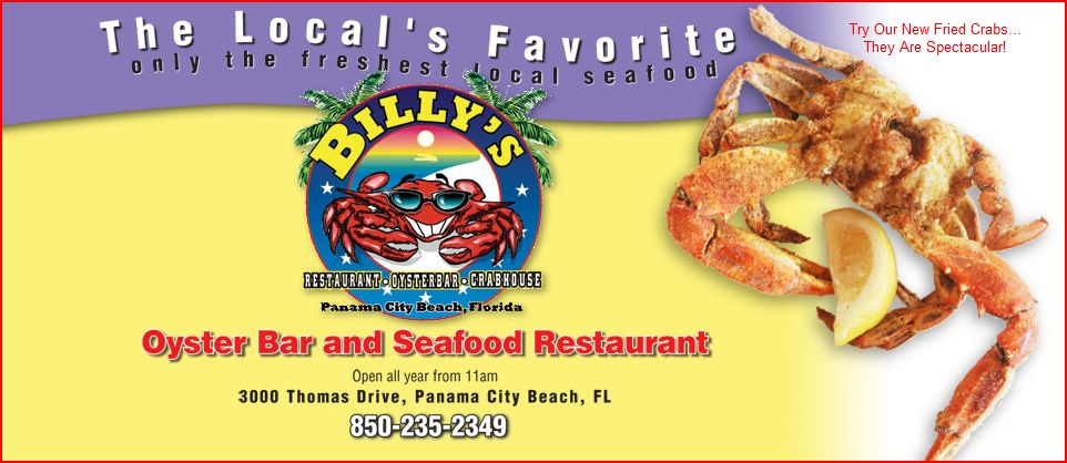 Billy S Oyster Bar And Seafood Restaurant Panama City Beach