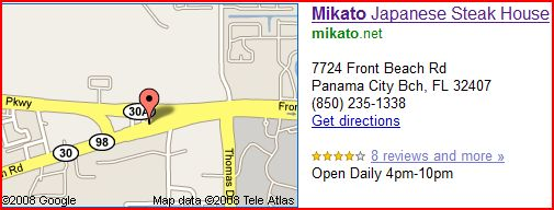 Restaurants Panama City Beach - Mikato's Japanese Steak House Restaurant - Panama City Beach